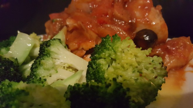 Chicken Cacciatore buttered veg
